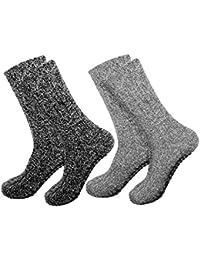 Calcetines noruegos ABS antideslizantes con lana de oveja, para hombre y mujer