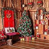 Coxeer Weihnachtskranz, Türkranz Weihnachten Weihnachtsdeko Kranz Weihnachtsgirlande mit Kugeln Handarbeit Weihnachten Garland Deko-Kranz (Mehrfarbig-Bell) - 6