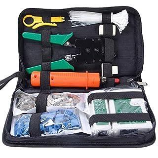 ANTAPRCIS 9 in 1 Netzwerk Reparaturwerkzeuge, Netzwerk Werkzeug Set, Netzwerk Kabeltester Kit, Patchkabel Tester Computer Wartung LAN Kabel Tester