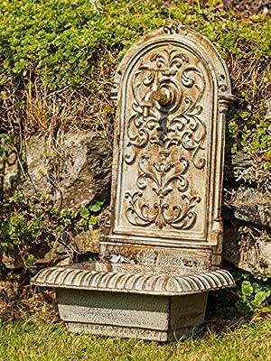 Brunnen 66cm 16kg Waschbecken Brunnen Eisen grün Wandbrunnen antik Stil von aubaho auf Du und dein Garten