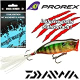 Angel-Berger Daiwa Prorex Mini Popper F Wobbler alle Modelle Stahlvorfach (Gold Perch, 5,5cm)