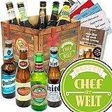 Bester Chef | Bier - Geschenkset mit Bieren der Welt