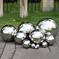 PROKTH 304 Stainless Steel Gazing Balls, 150mm Hollow Ball Globes Floating Pond Balls Seamless Mirror Ball Sphere for Home Garden Ornament Decoration