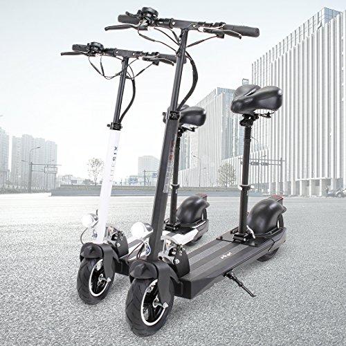 E-Scooter eFlux Lite 6 500W Elektro Aluminium Faltbarer Elektroroller Tretroller Scooter Verschiedene Akkuvarianten mit Sitz 500 Watt Motor Ultraleicht