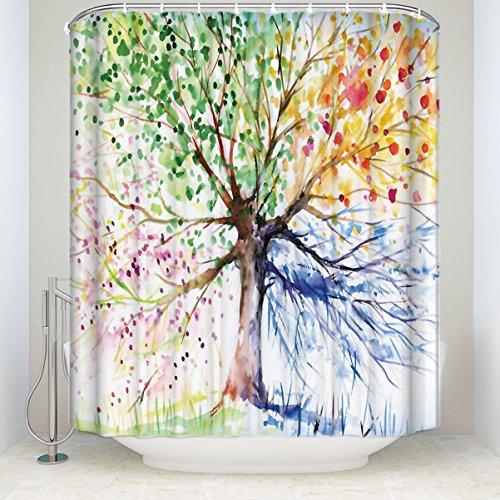 uschvorhang Baum der Leben Kunst Malerei Badezimmer Polyester-Dekoration-Dusche Vorhänge 48 x 72 inch Tree of Life Art Painting ()