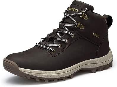 JIANKE Stivali da Trekking Uomo Antiscivolo Stivali da Neve Invernali Scarpe Outdoor Pelliccia Sneakers