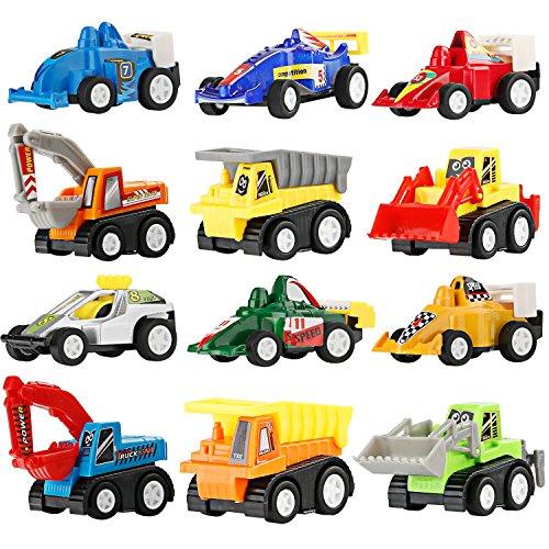 Ostereier Easter Egg Fillers 12 Pcs 5.8*3.8cm Toy Cars für Kinder ab 3 4 5 Jahren 12 Pcs - LEHII (Auto-spielzeug Für Kinder)