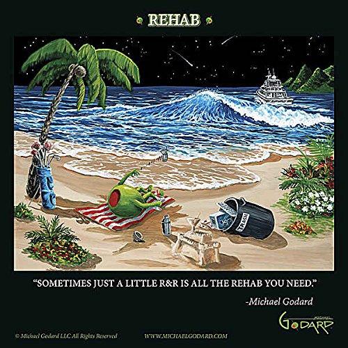 Reha von Michael Godard Neuheit Humor Funny Beach Fantasy Print Poster 30,5x 30,5 (Godard Artwork Michael)