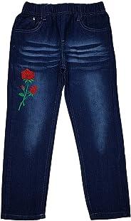 FESH Kids Bequeme Mädchen Jeans, Stretchjeans, Hose mit rundum Gummizug, M184e