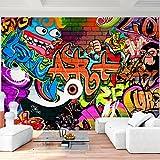 Tapisserie Photo Mur de pierre Graffiti 352 x 250 cm Laine papier peint Salon Chambre Bureau Couloir décoration Peinture murale décor mural moderne - 100% FABRIQUÉ EN ALLEMAGNE - 9068011a