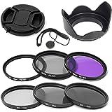 Elfenstall 10 teiliges Set Filterset UV CPL ND Filter Gegenlichtblende Halter 58mm mit Aufbewahrungstasche für die Filter