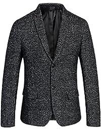 SSLR Blazer para Hombre Casual Moda Jaspeado de Lana