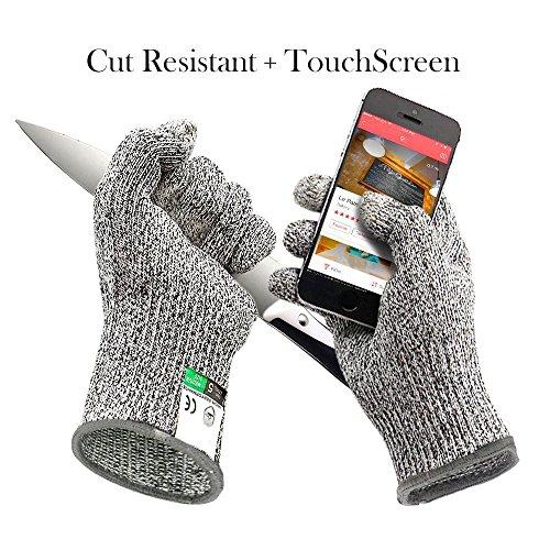 Drei Finger Touchscreen Cut beständig Handschuh evbea High Performance Level 5Schutz Metall Arbeiten Handschuhe für Küche Fisch Filetieren Schneiden Größe L Microplane Mandoline
