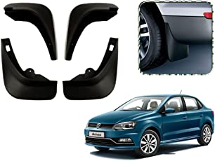 Autopearl O.E Type Car Mud Flap Guard for Volkswagen Ameo (Set of 4)