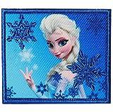 alles-meine.de GmbH Bügelbild -  Disney Frozen - die Eiskönigin / Prinzessin ELSA  - 6,5 cm * 5,5 cm - Aufnäher Applikation - gestickter Flicken - völlig unverfroren Anna Arendelle - Olaf / Mädchen