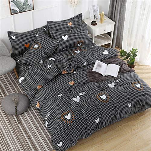 Bettwäsche-Sets XQU Cartoon-Katze 91pcs Mädchen-Junge-Kind-Bett-Abdeckung Set Bettbezug Erwachsene Kinderbett Bettwäsche und Kissenbezüge, König, Dame Tröster Bettwäsche-Set -