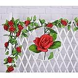 MMRM künstliche Rosa Blumen Ivy Vine Hanging Garland für Hochzeits-Hause