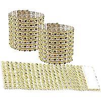 amajoy 50pcs servilleta anillos para servilleta anillos adorno para boda fiesta banquete cena Decor boda Favor dorado