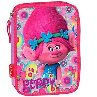 Estuche escolar garnie doble los Trolls Poppy Happy