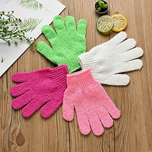 BESTEU 1PC Peeling Bad Handschuhe für Körper Peeling Exfoliator Luffa Handschuhe für Männer und Frauen