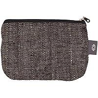 Kleine Schwarze Leinwand Kosmetiktasche - Doppellagige 100% Leinen - Kupplung - Geldbeutel - Taschen und Portemonnaies - Frauen Geldbeutel - Gewebetasche | Handgefertigte durch ThingStore