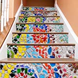 Frolahouse Europa und die Vereinigten Staaten kreative moderne handbemalte 3d diy renoviert treppen aufkleber abnehmbare wasserdichte treppen wandbild (39,3