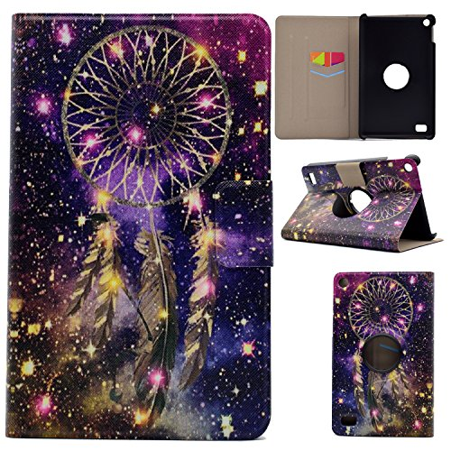 CeLover Amazon Kindle Fire 7 2015 Model E-reader, Magnetische intelligente Schutzhülle Kindle Fire HD 7 Tablet, Slim mit einer Klammerfunktion Fall Amazon Schutzhülle, Bling dreamcatcher (7 Case Hd Kindle Bling Fire)