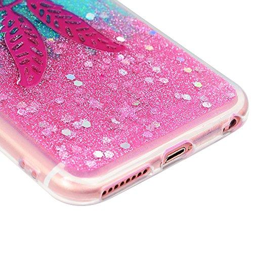 Cover per iPhone 6 Plus Silicone e Bling Glitter Brillanti, iPhone 6S Plus Custodia Morbida TPU Flessibile Gomma - MAXFE.CO Case Ultra Sottile Cassa Protettiva per iPhone 6 Plus / 6S Plus - Acchiappas Acchiappasogni