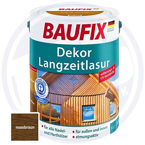 Baufix Dekor Langzeitlasur Nussbaum 5 Liter