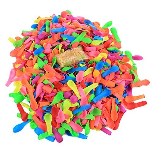 BOROK 1000 Stück Balloon Wasserbomben Selbstschließend Wasserbombe Spielzeug Schnellfüller Wasserballons Luftballons Nachfüllset