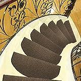 BSTWLKJ Einfarbig Unifarben Rutschfest Treppe 24*65cm Fussmatte Teppich