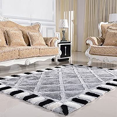 Modern Minimalist Living Room Thickened Bedroom European Black And White Checkered Sofa Coffee Table Mat Carpet (color, Size Optional) produced by Brisk carpet - quick delivery from UK.