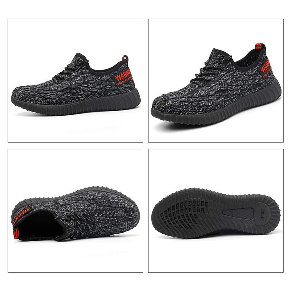 Industria Punta Zapatillas Mujer de y de Seguridad Acero Construcción Zapatos Hombre Trabajo Protección IWDHE92