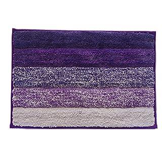 Haus- und Küchenteppich, moderner Teppich, rutschfeste Küchenmatte, Rückseite aus Gummi, Fußmatte, Läufer, Teppich-Set, Mikrofaser, Purple 15.8