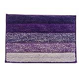 Haus- und Küchenteppich, moderner Teppich, rutschfeste Küchenmatte, Rückseite aus Gummi, Fußmatte, Läufer, Teppich-Set, Mikrofaser, Purple 15.8'*23.7', purple