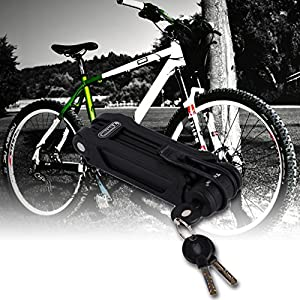 Bike Lock,Folding Security no Cable Lock Combination Best for Bicycle Outdoors light