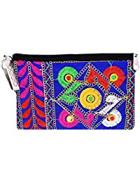 Bagaholics Ethnic Raw Silk Saree Clutch Mobile Pouch Waist Clip Ladies Purse Gift For Women