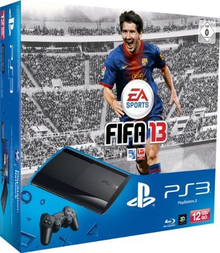 PlayStation 3 - Konsole Super Slim 12 GB (inkl. DualShock 3 Wireless Controller + FIFA 13) (Fifa 2013 Ps3)