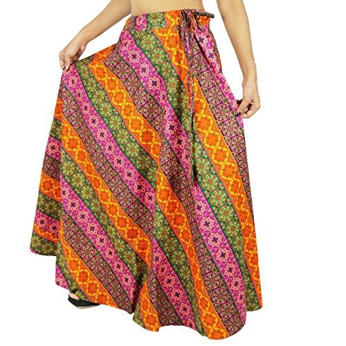 Frauen Kleidung Strand Tragen Spitze Lange Baumwollrock Maxi Boho Hippie Mehrfarben