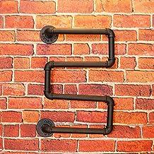 LCTCJJ Vintage Creative Pipeline, Wall Holder Metal | Soporte Colgante de Vidrio | Porta Botella