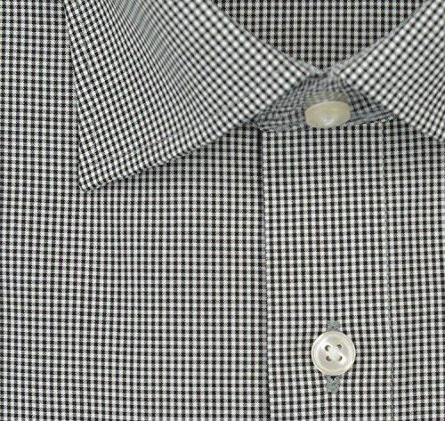 OLYMP Luxor modern fit Hemd Halbarm New Kent Kragen Karo schwarz Schwarz