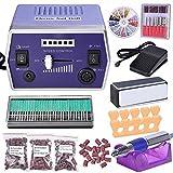 AW-22000-RPM-Electric-Nail-Drill-Kit-Machine-File-Bits-Manicure-Art-w/-300x-Sanding-Bands-30x-Nail-Drill-Bits