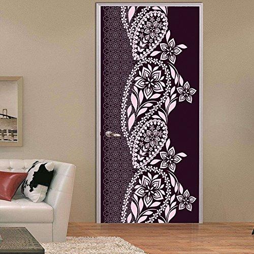 MIAORUI neue nahost - stil großer blume rebe kreative tür stecken / persönlichkeit holztür familie dekoration wandsticker