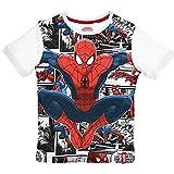 T-shirt t-shirt Spiderman Enfant Sun City Garçon 3/8ans-qe1175bianco anni 04 Blanc