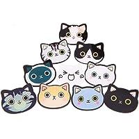 Unigift, spille in acrilico a forma di gatto con diverse espressioni, per ragazze e bambini, decorazione per borse…
