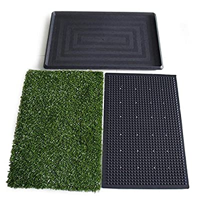 Topiaukstore XTELARY Puppy Toilet Dog Grass Restroom Potty Training with Tray and Loo Pad 5