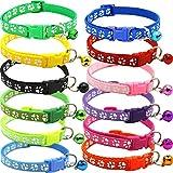 BETOY Pet Katzenhalsband mit Glöckchen,Halsband-Set für Katzen,...