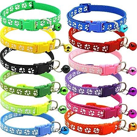 BETOY Pet Katzenhalsband mit Glöckchen,Halsband-Set für Katzen, reflektierendelastisches Katzenhalsband…