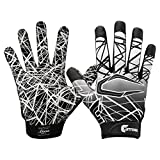 Cutters Jugend und Senior S150 Game Day Receiver Handschuhe Youth Adult Gloves - Schwarz Gr. YM