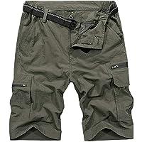 Jessie Kidden Men's Cargo Hiking Shorts Elasticated Waist Quick Dry Lightweight Outdoor Summer Walking Fishing Safari…